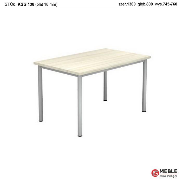 Stół KSG-138 (grubość blatu 18 mm)