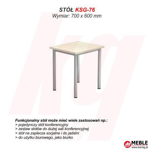 Stół KSG-76 (grubość blatu 25 mm)