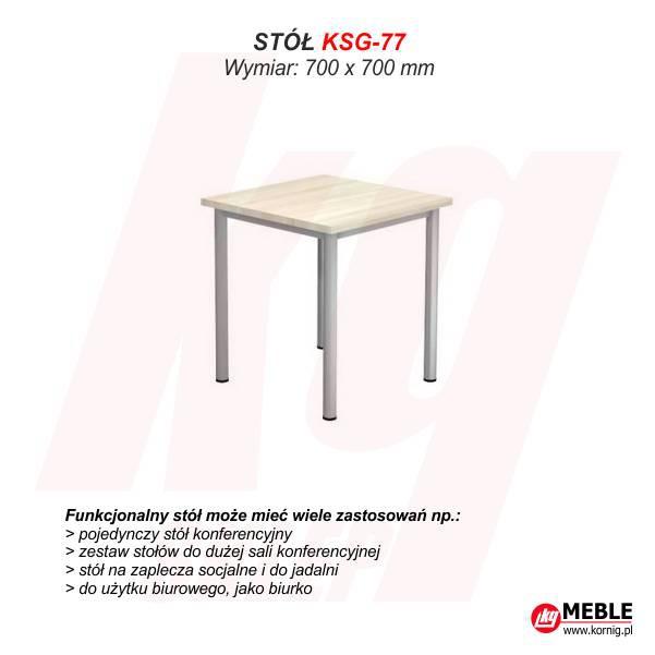 Stół KSG-77 (grubość blatu 25 mm)