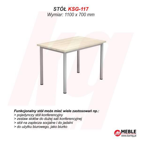 Stół KSG-117 (grubość blatu 25 mm)