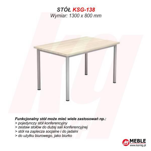 Stół KSG-138 (grubość blatu 25 mm)