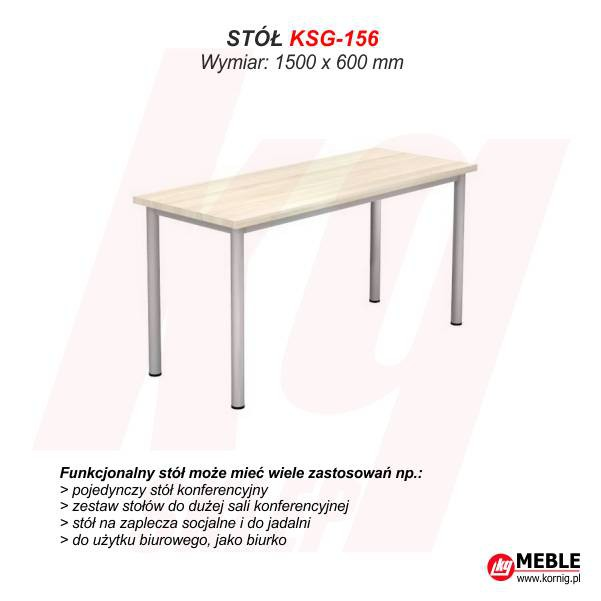 Stół KSG-156 (grubość blatu 25 mm)