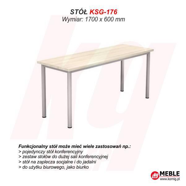 Stół KSG-176 (grubość blatu 25 mm)