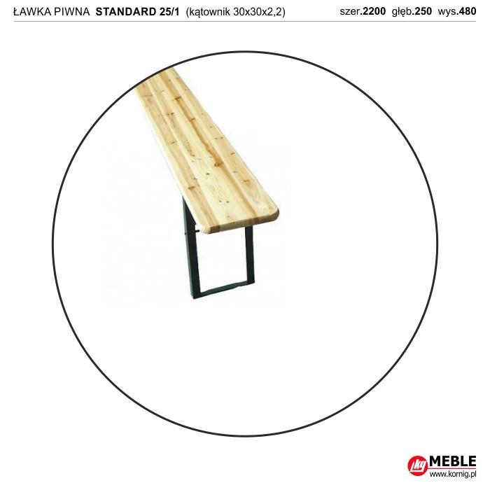 Ławka Standard 25/1 kątownik zimnogięty