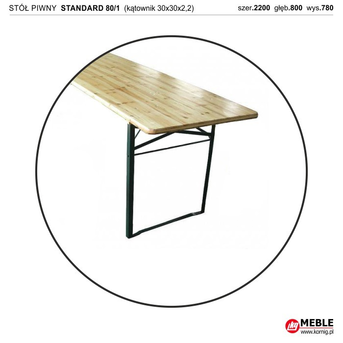 Stół Standard 80/1 kątownik zimnogięty