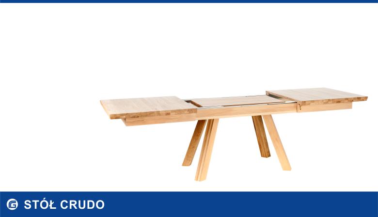 Rozkładany stół dębowy CRUDO